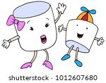 an image of a marshmallow mom... | Shutterstock .eps vector #1012607680