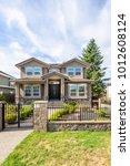 a perfect neighborhood. houses... | Shutterstock . vector #1012608124