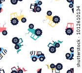 cement mixer  vehicle and... | Shutterstock .eps vector #1012610134