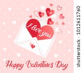 love letter and hand painted... | Shutterstock .eps vector #1012611760
