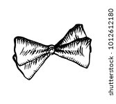 bow tie sketch icon isolated on ... | Shutterstock .eps vector #1012612180