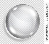 big translucent gray sphere... | Shutterstock .eps vector #1012612414
