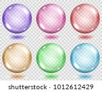 set of translucent colored... | Shutterstock .eps vector #1012612429