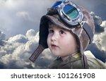 a little cute baby dreams of... | Shutterstock . vector #101261908