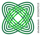 celtic knot in circle. shades... | Shutterstock .eps vector #1012619113