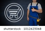 shopping cart icon and... | Shutterstock . vector #1012625068