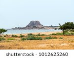 wild tropical beach and... | Shutterstock . vector #1012625260