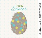colorful happy easter greeting...   Shutterstock . vector #1012625668