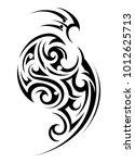 tribal tattoo in maori ethnic... | Shutterstock .eps vector #1012625713