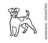 jack russell terrier dog  ... | Shutterstock .eps vector #1012627303