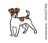jack russell terrier dog  ... | Shutterstock .eps vector #1012627306