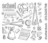 collection of doodles drawings... | Shutterstock .eps vector #1012630708