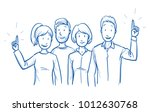 group of mixed people  some... | Shutterstock .eps vector #1012630768