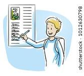 happy  smiling school boy ... | Shutterstock .eps vector #1012630798