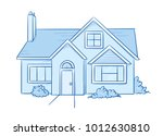 blue colored detached  single... | Shutterstock .eps vector #1012630810
