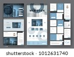 website template design with... | Shutterstock .eps vector #1012631740