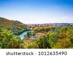 lovely besancon landscape with... | Shutterstock . vector #1012635490