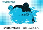 water polo. gambling athlete... | Shutterstock .eps vector #1012636573