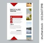 flyer design template. brochure ... | Shutterstock .eps vector #1012637398