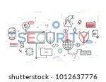 security word surrounded by... | Shutterstock .eps vector #1012637776
