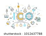 ico or initial coin offering... | Shutterstock .eps vector #1012637788