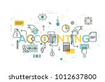 accounting word surrounded by... | Shutterstock .eps vector #1012637800