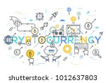 cryptocurrency word surrounded... | Shutterstock .eps vector #1012637803