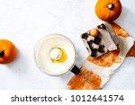 overhead of cream cheese... | Shutterstock . vector #1012641574