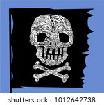 pirate symbol jolly rogers...   Shutterstock .eps vector #1012642738