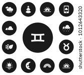 set of 13 editable weather...