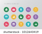 set of 15 editable kin icons.... | Shutterstock . vector #1012643419