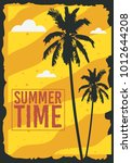 summer time  poster design with ... | Shutterstock .eps vector #1012644208