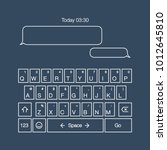 mobile keyboard. sms or mms...