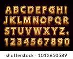 font lamp symbol  gold letter... | Shutterstock .eps vector #1012650589