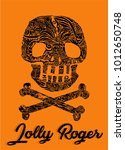 pirate symbol jolly rogers...   Shutterstock .eps vector #1012650748