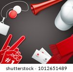 vector attributes of the fans... | Shutterstock .eps vector #1012651489