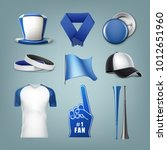 vector set of fans accessories... | Shutterstock .eps vector #1012651960