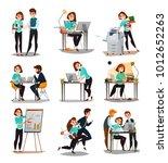 multitasking isolated icons set ... | Shutterstock .eps vector #1012652263