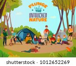 camping people poster doodle... | Shutterstock .eps vector #1012652269