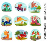 fairy dragons kids set of... | Shutterstock .eps vector #1012652278