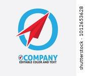 o letter logo design vector... | Shutterstock .eps vector #1012653628