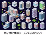 colorful 3d isometric city of... | Shutterstock .eps vector #1012654009