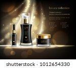 luxury cosmetics realistic... | Shutterstock .eps vector #1012654330