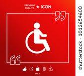 wheelchair handicap icon   Shutterstock .eps vector #1012654600