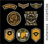 set of military and army badge... | Shutterstock .eps vector #1012655266