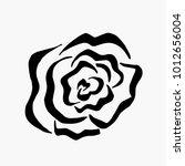 monochrome black and white rose ... | Shutterstock .eps vector #1012656004