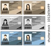templates id cards and badges... | Shutterstock .eps vector #1012656499