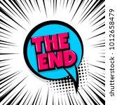 the end  film  cinema comic... | Shutterstock .eps vector #1012658479