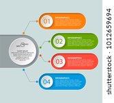 vector abstract 3d paper...   Shutterstock .eps vector #1012659694