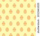 simple happy easter seamless... | Shutterstock .eps vector #1012661020